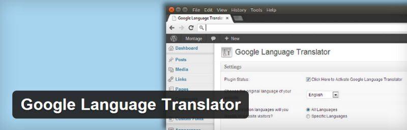 استفاده از ترجمه گوگل در وردپرس با افزونه Google Language Translator