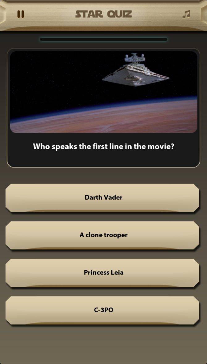 Trivia – Star Wars Edition: Galaxy Quiz