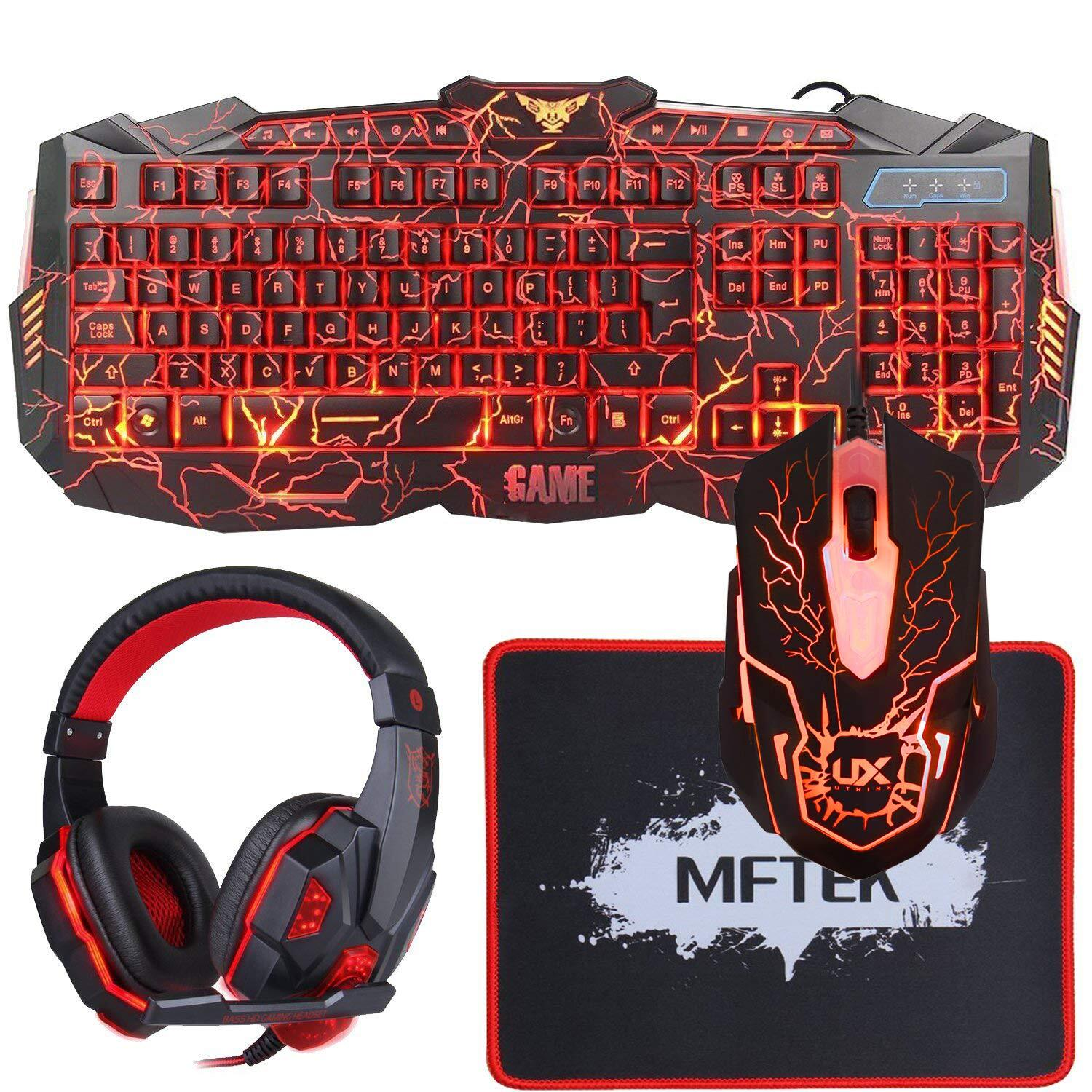 BlueFinger RGB Gaming Keyboard and Mouse Combo