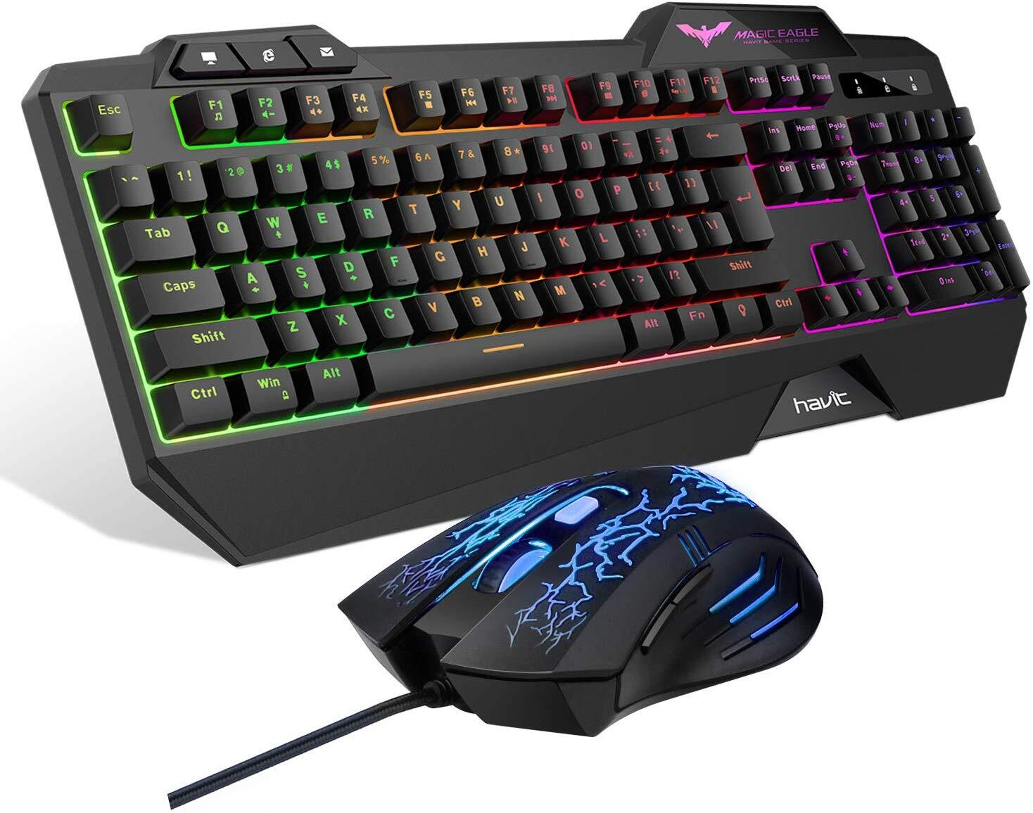 HAVIT Gaming Keyboard Mouse Headset & Mouse Pad Kit