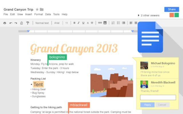 Google Docs, Google Slide, Google Sheets