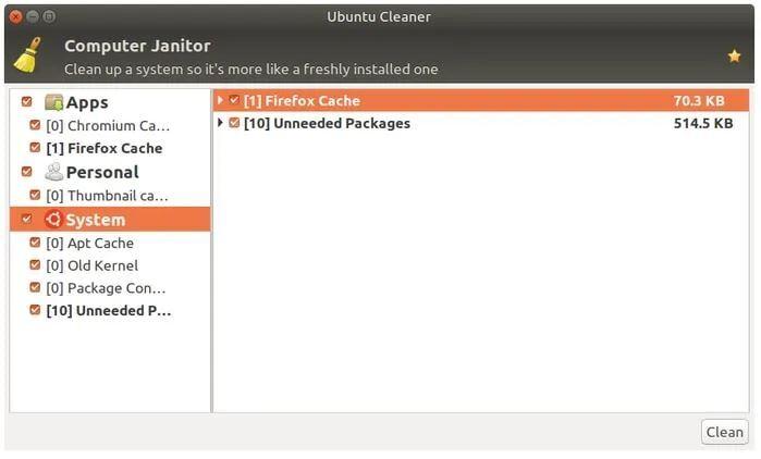 Ubuntu Cleaner